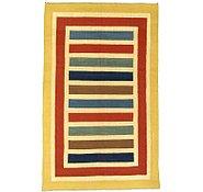 Link to 5' 5 x 8' 8 Striped Modern Kilim Rug
