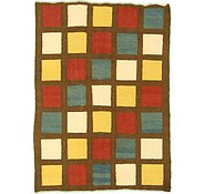 Link to 4' 4 x 6' Checkered Modern Kilim Rug