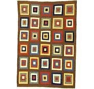 Link to 6' 5 x 9' 6 Checkered Modern Kilim Rug