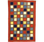Link to 6' 7 x 9' 8 Checkered Modern Kilim Rug