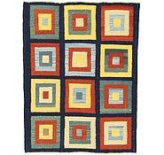 Link to 4' 10 x 6' 2 Checkered Modern Kilim Rug