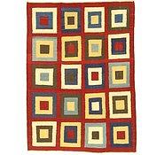 Link to 5' x 6' 10 Checkered Modern Kilim Rug
