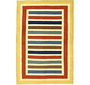 Link to 5' 10 x 8' 7 Striped Modern Kilim Rug
