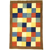 Link to 6' 9 x 9' 9 Checkered Modern Kilim Rug