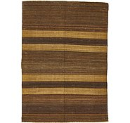 Link to 4' 2 x 5' 10 Striped Modern Kilim Rug
