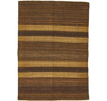 127x178 Striped Modern Kilim Rug