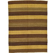 Link to 4' 2 x 5' 6 Striped Modern Kilim Rug