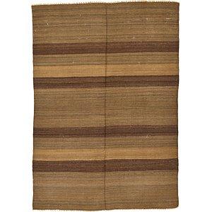 4' 1 x 5' 9 Striped Modern Kilim Rug