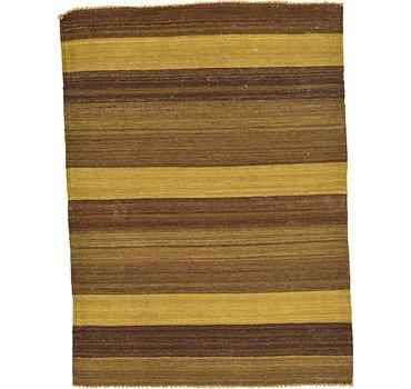 107x147 Striped Modern Kilim Rug