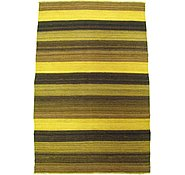 Link to 3' 2 x 4' 10 Striped Modern Kilim Rug
