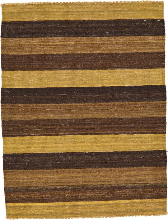 Brown 3 39 X 3 39 11 Striped Modern Kilim Rug Area Rugs