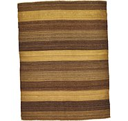 Link to 3' 5 x 4' 7 Striped Modern Kilim Rug