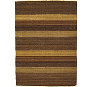 Link to 3' 6 x 4' 10 Striped Modern Kilim Rug