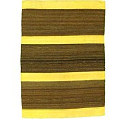 Link to 4' 10 x 6' 8 Striped Modern Kilim Rug