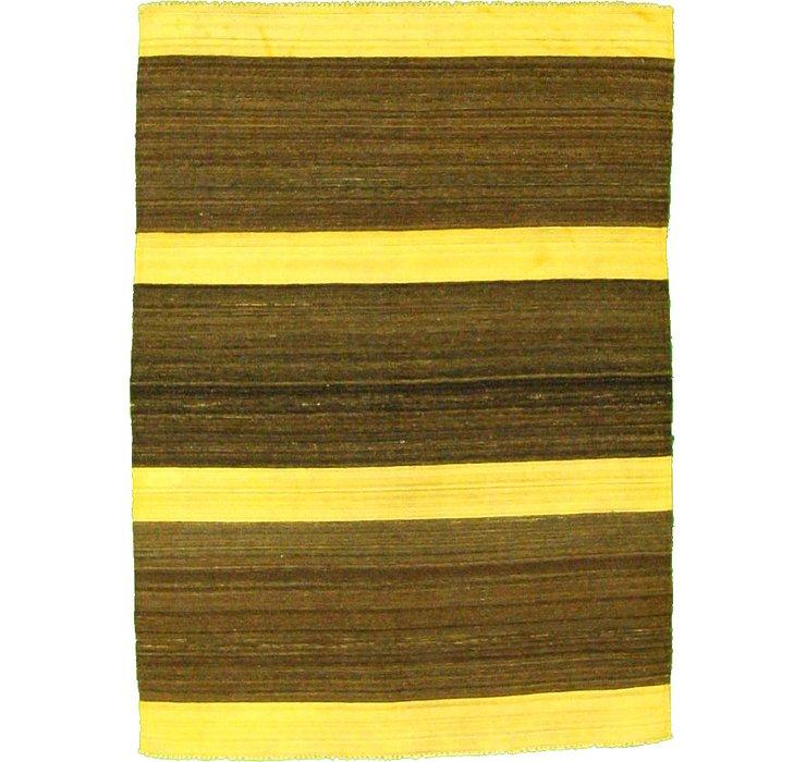 4' 10 x 6' 8 Striped Modern Kilim Rug