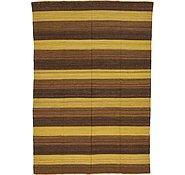 Link to 6' 1 x 8' 9 Striped Modern Kilim Rug