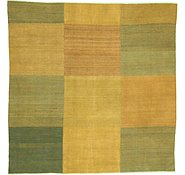 Link to 8' 1 x 8' 3 Checkered Modern Kilim Square Rug
