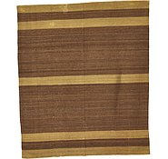 Link to 8' 1 x 9' 7 Striped Modern Kilim Rug
