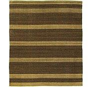 Link to 8' 1 x 9' 6 Striped Modern Kilim Rug
