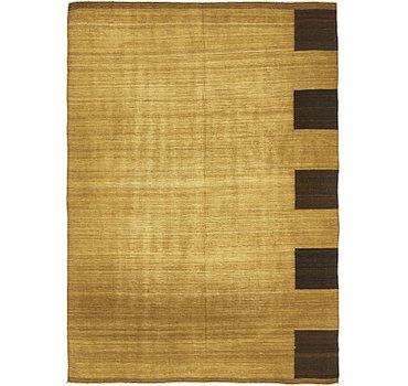 185x254 Checkered Modern Kilim Rug