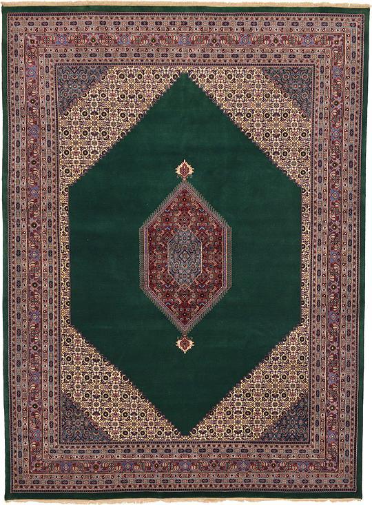 Green 9 X 12 3 Bidjar Oriental Rug Oriental Rugs Esalerugs