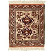 Link to 4' x 4' 10 Torkaman Persian Square Rug