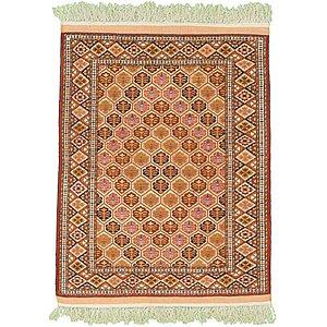 HandKnotted 3' 11 x 5' 3 Torkaman Persian Rug
