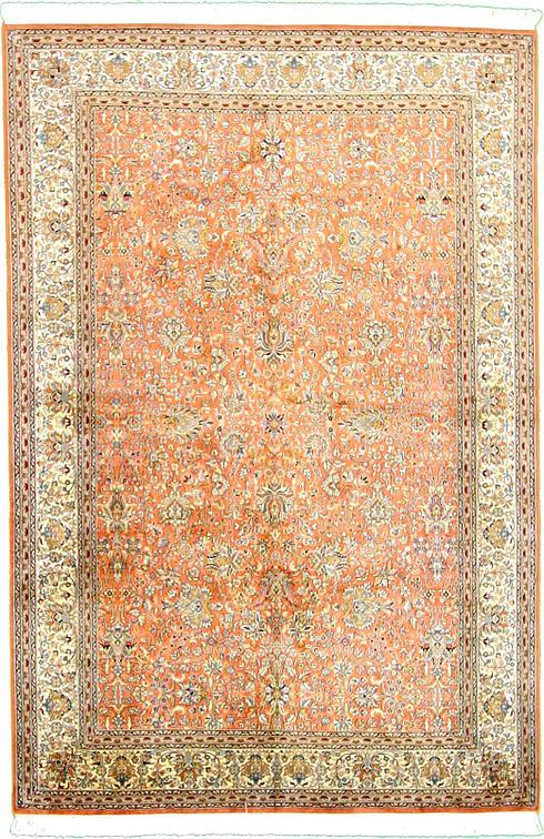 Peach 6 2 X 9 2 Kashmir Rug Oriental Rugs Esalerugs