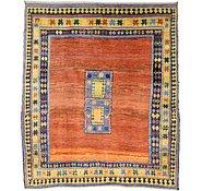 Link to 6' x 7' 2 Shiraz-Gabbeh Persian Square Rug