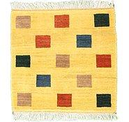 Link to 3' 6 x 3' 6 Shiraz-Gabbeh Persian Square Rug