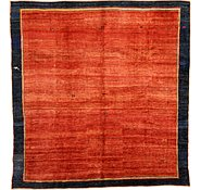 Link to 13' 6 x 13' 11 Shiraz-Gabbeh Persian Square Rug