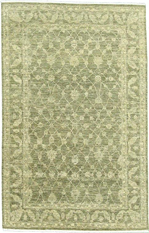Light Green 5u0027 4 X 8u0027 4 Over Dyed Ziegler Oriental Rug | Oriental Rugs |  ESaleRugs
