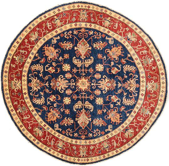 Navy Blue Oriental Rug Home Decor