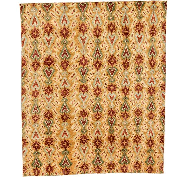 8' 1 x 9' 8 Ikat Oriental Rug