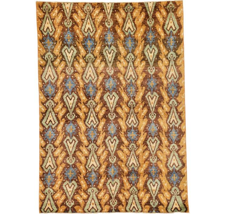 6' 1 x 8' 7 Ikat Oriental Rug
