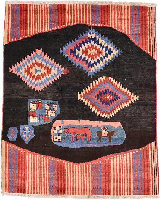 Persian Rugs Australia: Brown 188cm X 230cm Shiraz-Gabbeh Persian Rug
