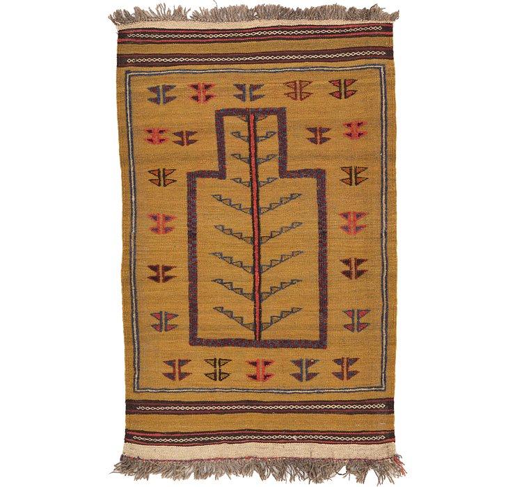 2' 7 x 4' 2 Kilim Afghan Rug