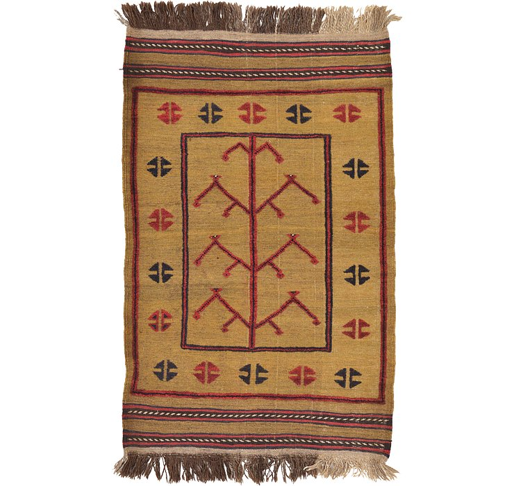 85cm x 132cm Kilim Afghan Rug
