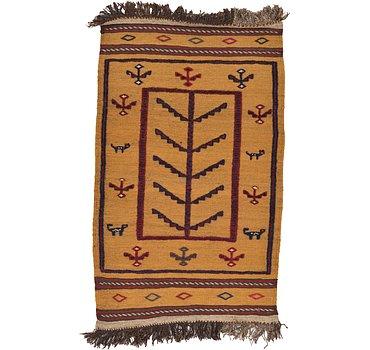 76x127 Kilim Afghan Rug