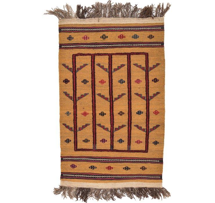2' 7 x 4' 3 Kilim Afghan Rug