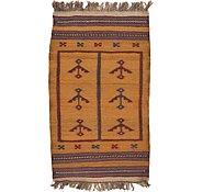 Link to 2' 9 x 4' 9 Kilim Afghan Rug
