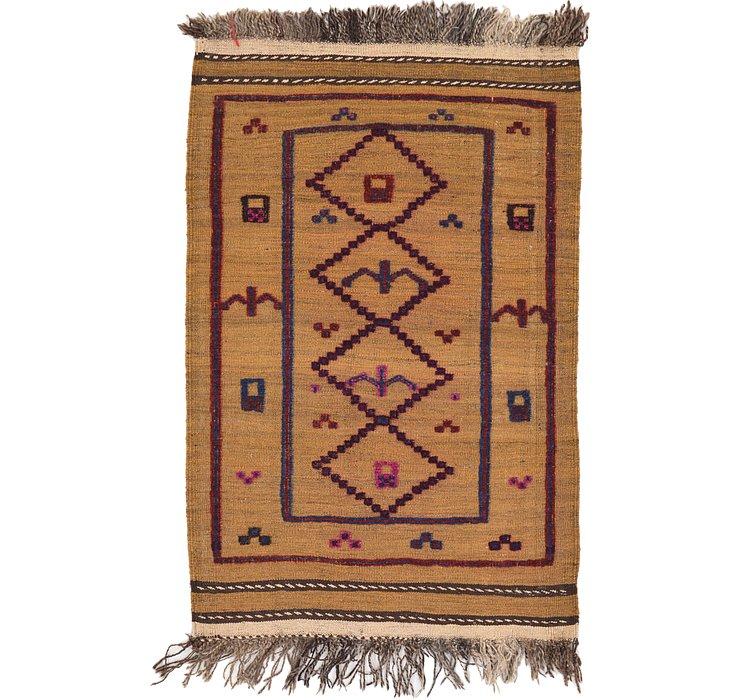 2' 9 x 4' 3 Kilim Afghan Rug