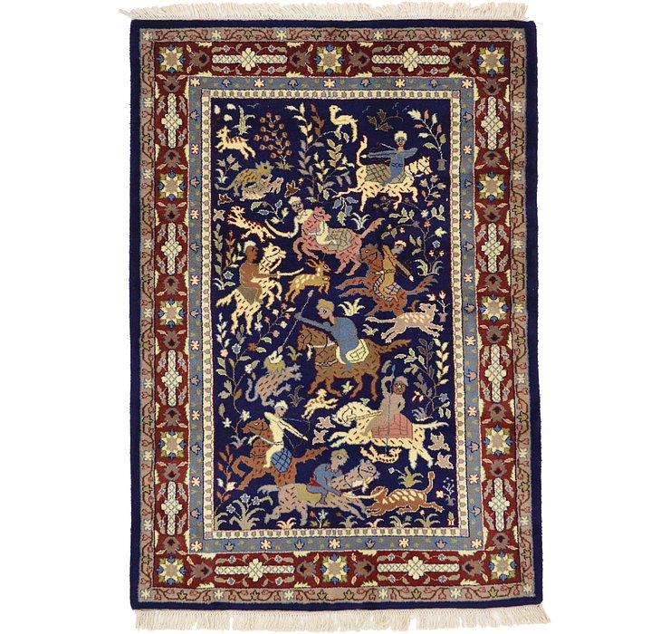 4' 6 x 6' 5 Isfahan Oriental Rug