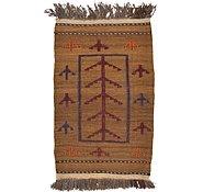 Link to 2' 5 x 4' Kilim Afghan Rug