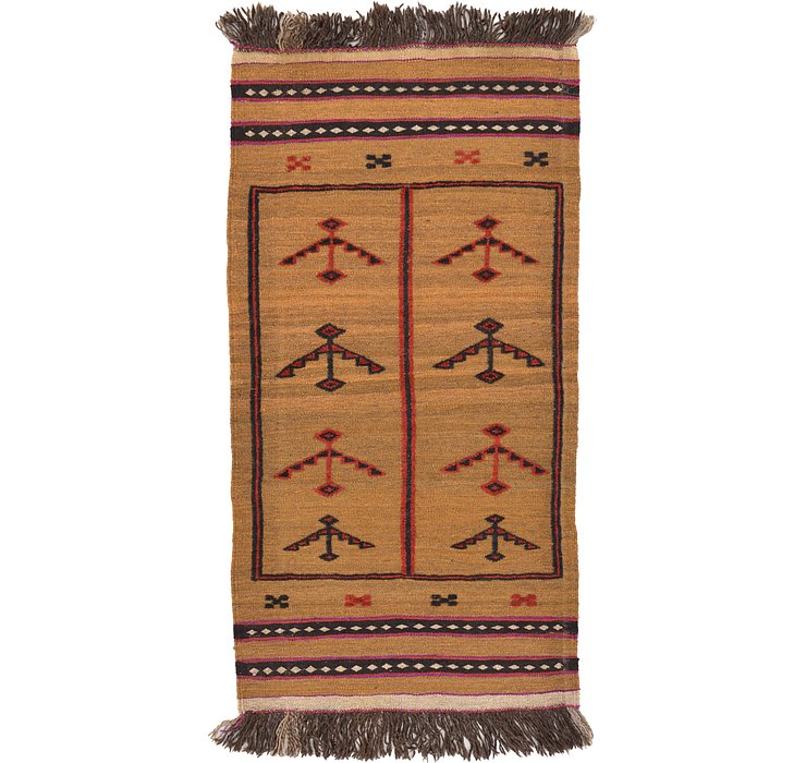 2' 5 x 4' 6 Kilim Afghan Rug