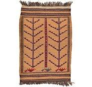 Link to 2' 10 x 4' 2 Kilim Afghan Rug