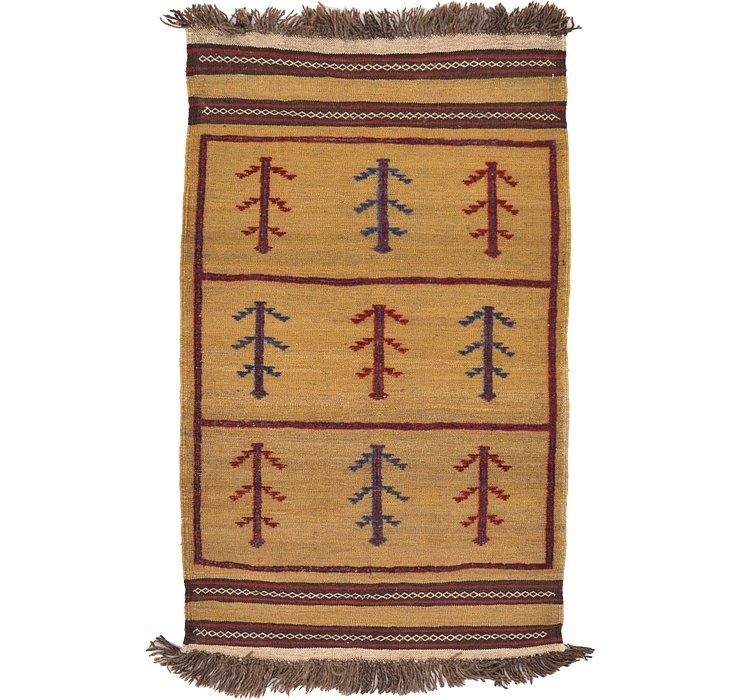 2' 8 x 4' 5 Kilim Afghan Rug