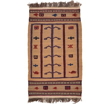 76x130 Kilim Afghan Rug