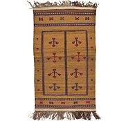 Link to 2' 7 x 4' 5 Kilim Afghan Rug