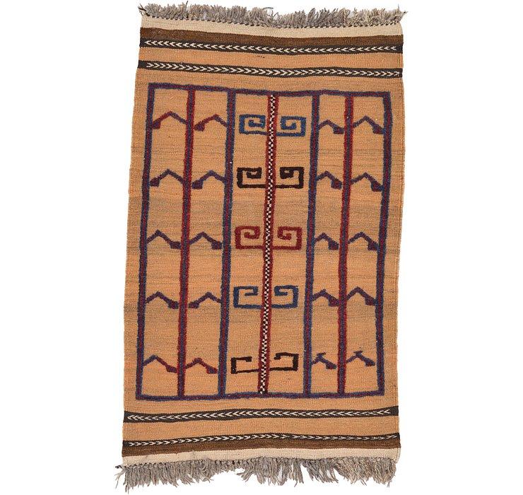 2' 8 x 4' 3 Kilim Afghan Rug